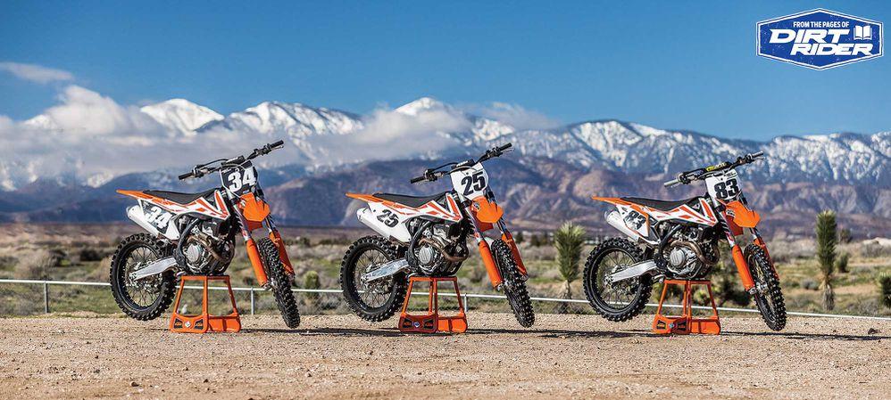250 vs 350 vs 450 Motocross Bike Comparison | Dirt Rider