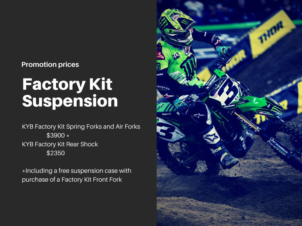 KYB Factory Kit Suspension Promotion from Technical Touch USA | Dirt