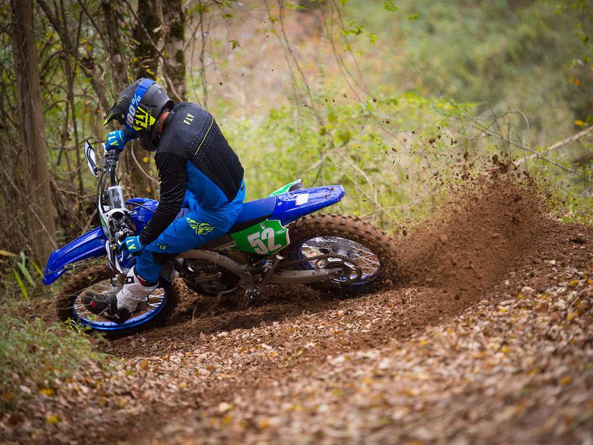 The YZ250FX's engine offers excellent roll-on power and is noticeably improved over the prior generation (2015–2019) model.