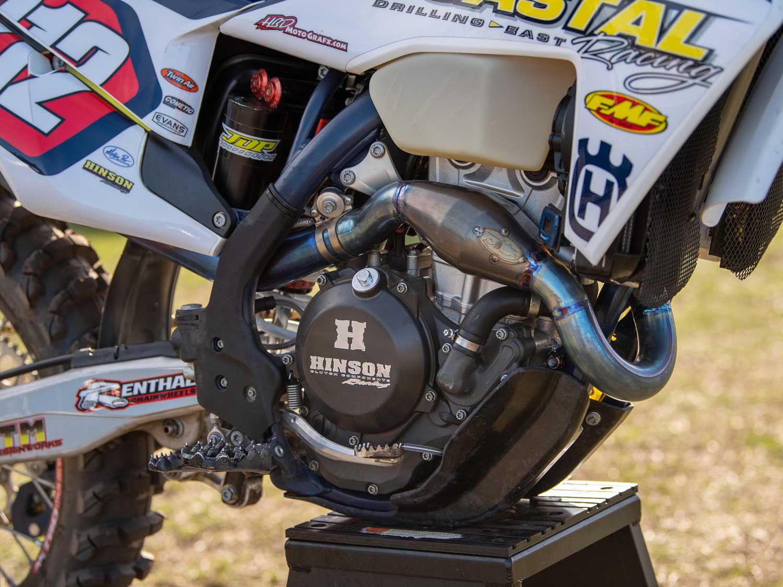 Coastal Racing Husqvarna gets the same FMF exhaust systems as the Rockstar Energy Husqvarna Factory Racing off-road team.