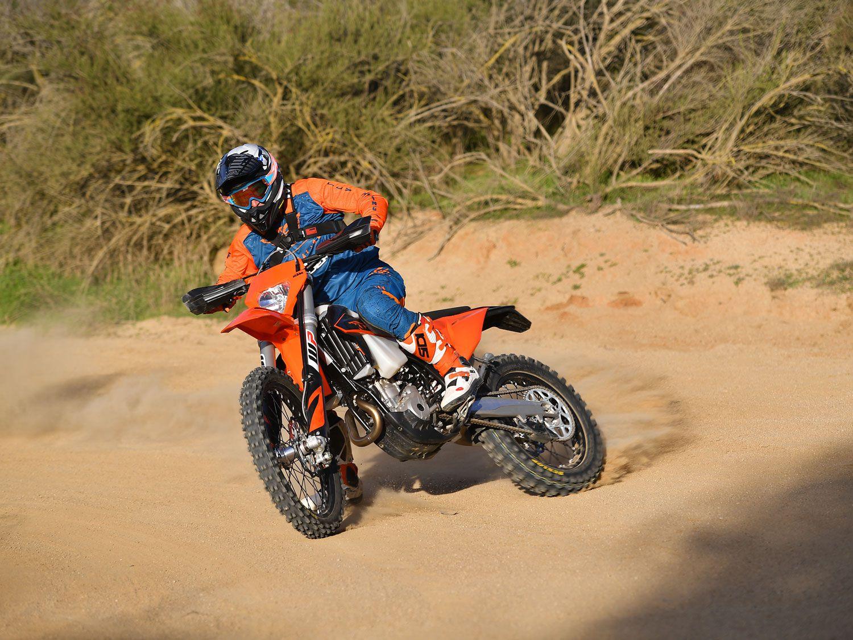 Riding the 2020 KTM 350 XCF-W.