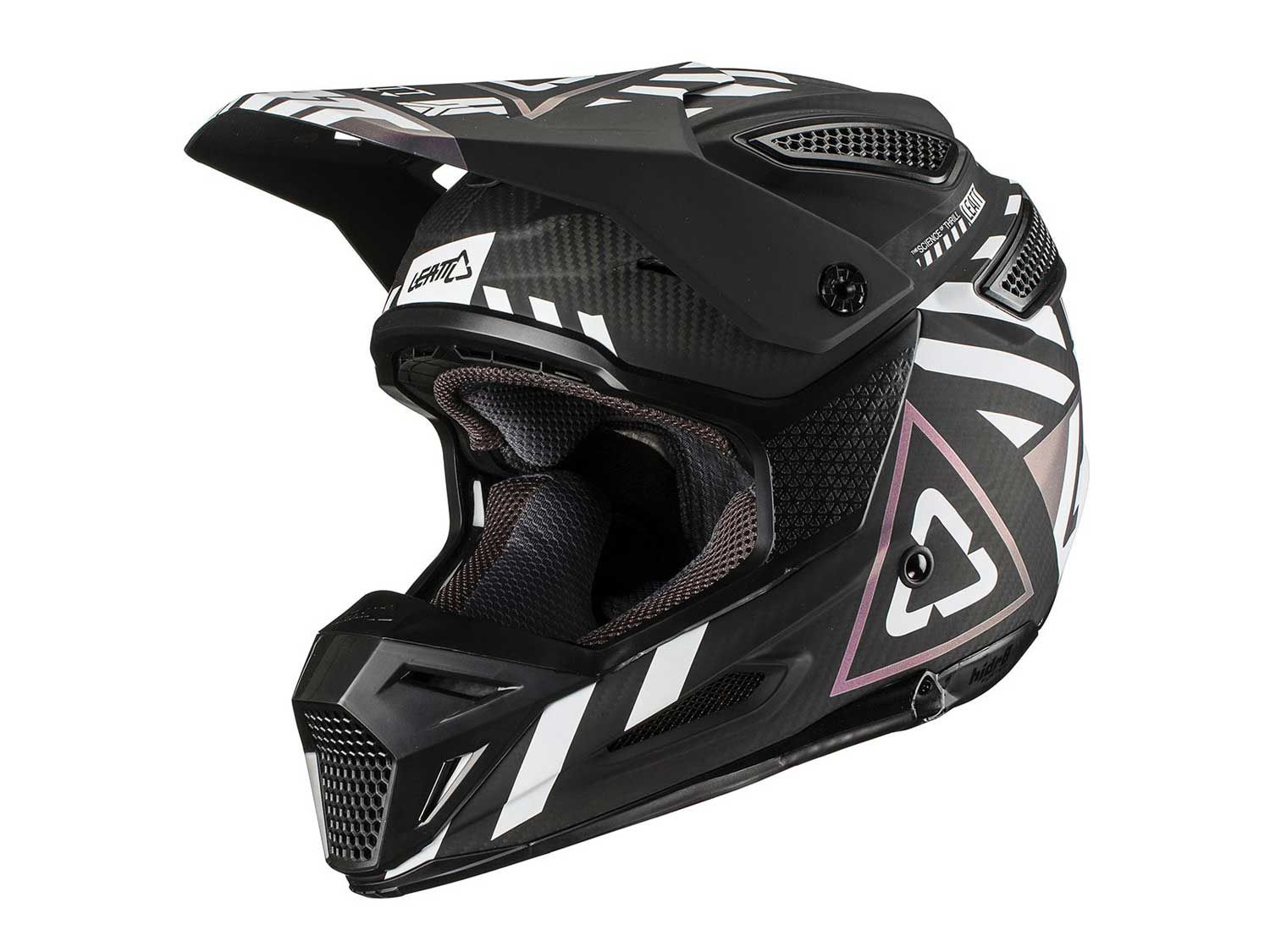 The Leatt GPX 6.5 Carbon utilizes a carbon matrix shell that is offered in three sizes.