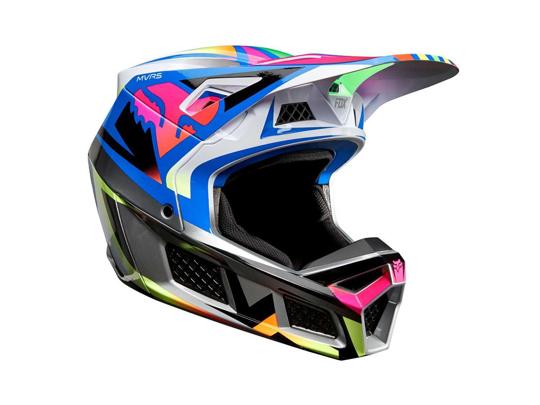 The Fox Racing V3 dirt bike helmet utilizes four shell and EPS sizes.