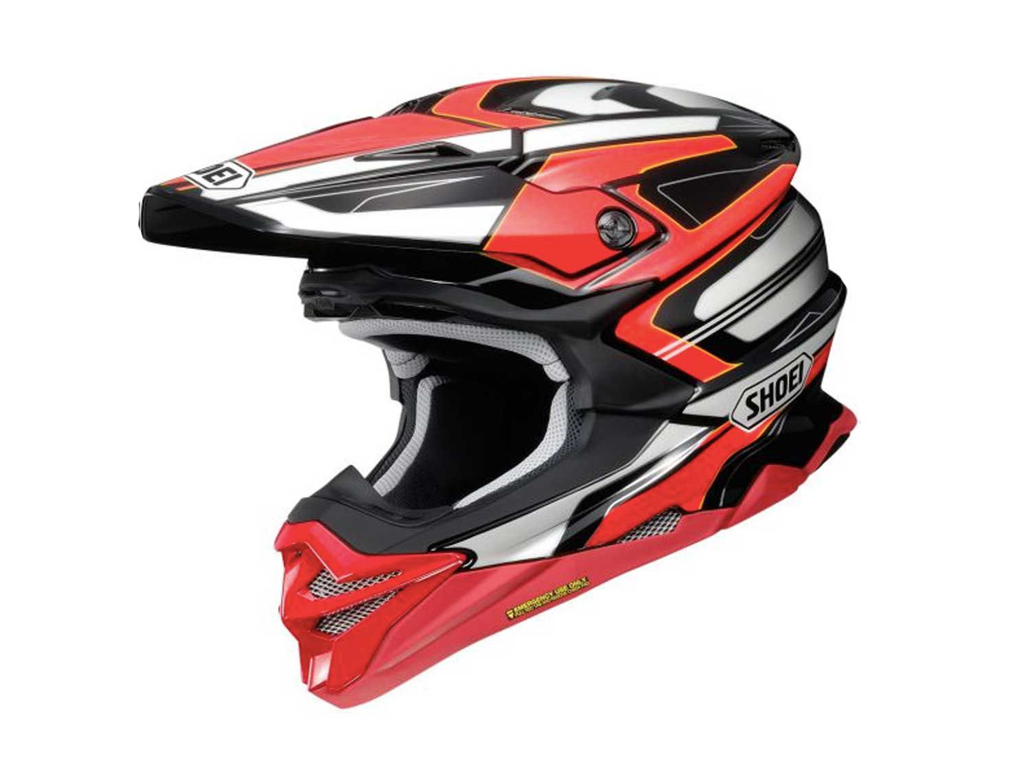 The Shoei VFX-EVO features Motion Energy Distribution System (M.E.D.S.) and is offered in 12 different colorways. The most expensive is the Brayton TC-1 (pictured) at $699.