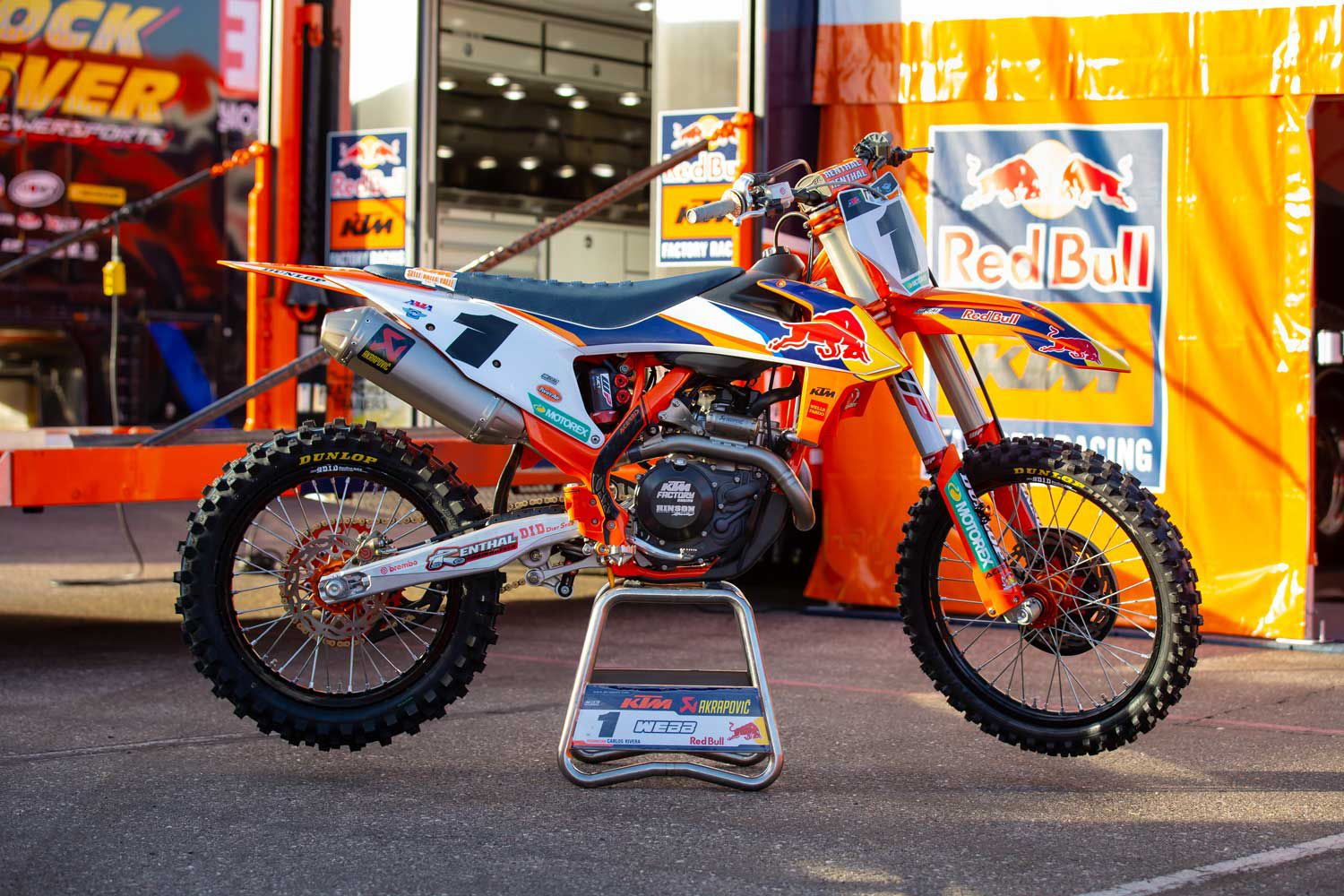 Cooper Webb signed with the Red Bull KTM Factory Racing team for the 2019 season and won his first 450SX title that same year.