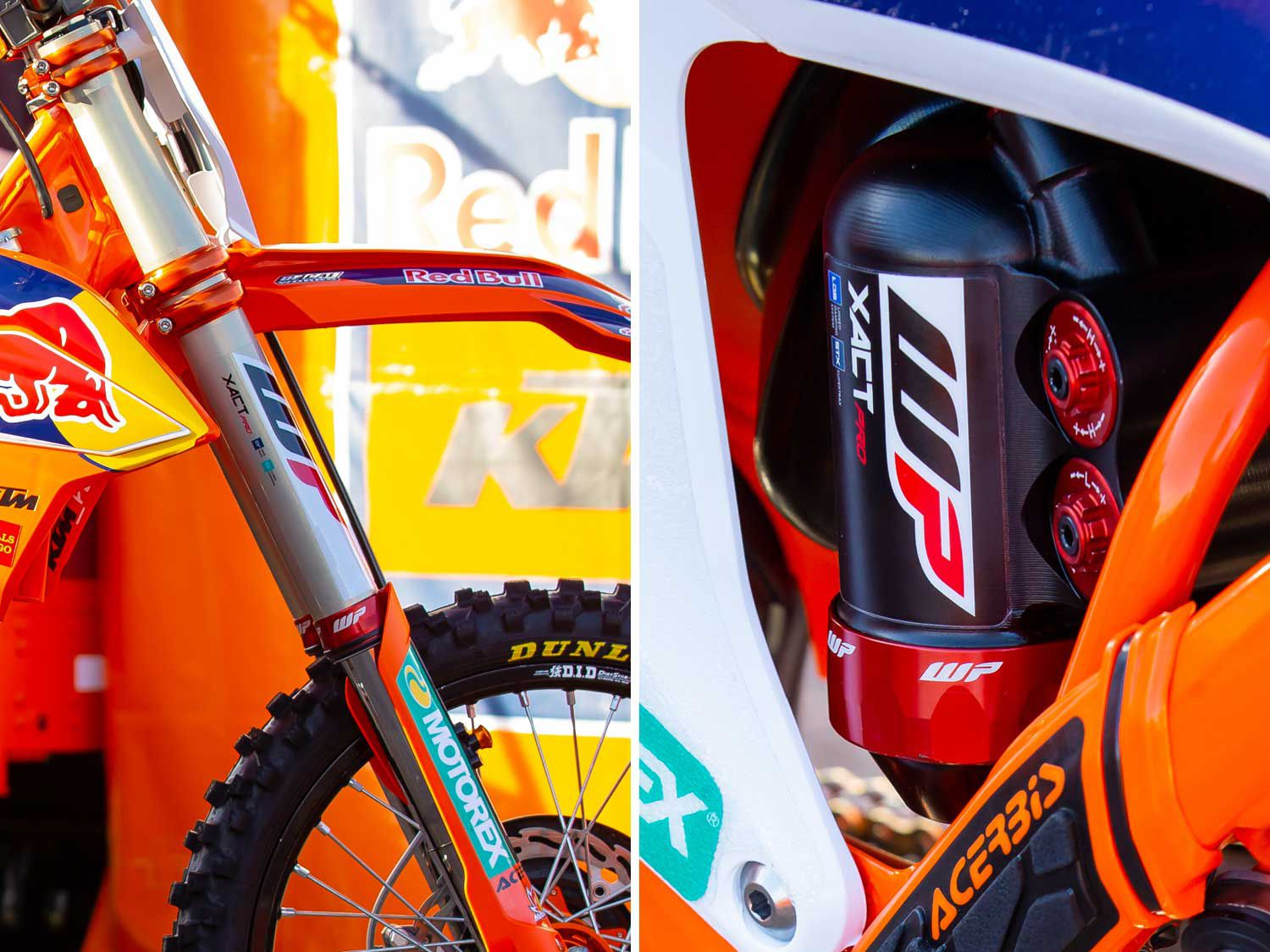 Webb focuses heavily on the balance of his WP factory suspension components.