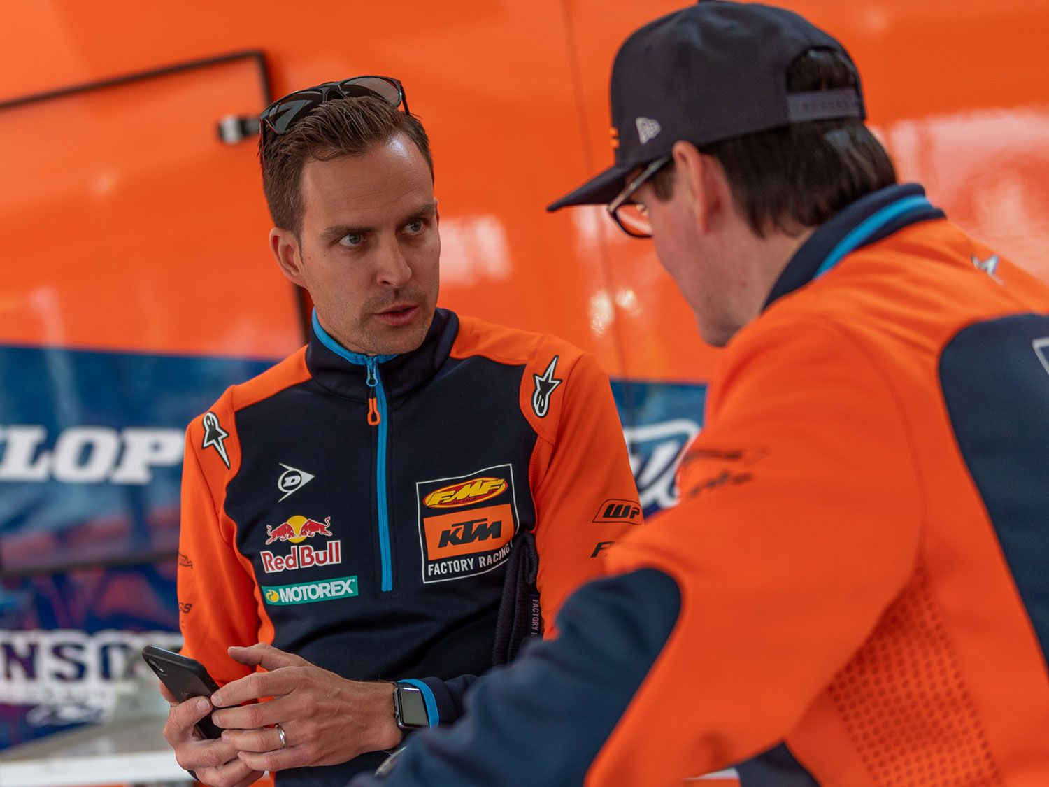 KTM's off-road team manager Antti Kallonen runs a tight ship that is clean and organized.